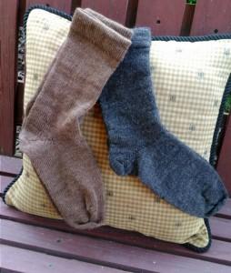 Shetland Socks in natural colors